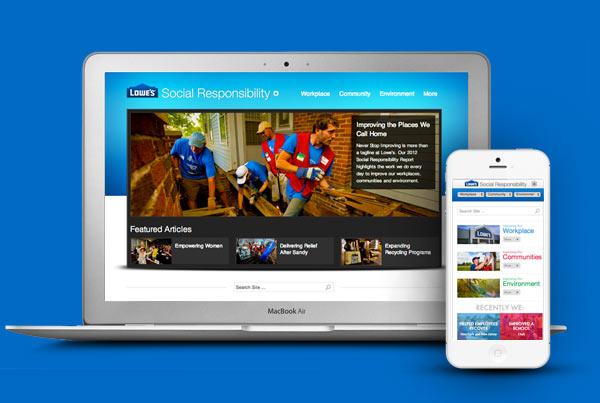 Lowe's Social Responsibility Website